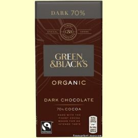 Шоколад горький Green & Black's Organic DARK 70% 90 гр.