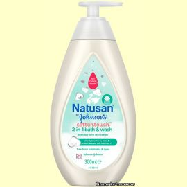 Моющая жидкость Natusan by Johnson's Cotton Touch Wash 300 мл.