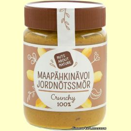 Паста арахисовая Nuts About Nature Maapähkinävoi 100% Crunchy 340 гр.