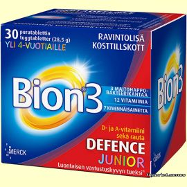 BION3 DEFENCE JUNIOR PURUTABL 30 табл.